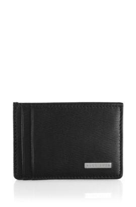 Kartenhalter ´Luber` aus Rindsleder, Schwarz