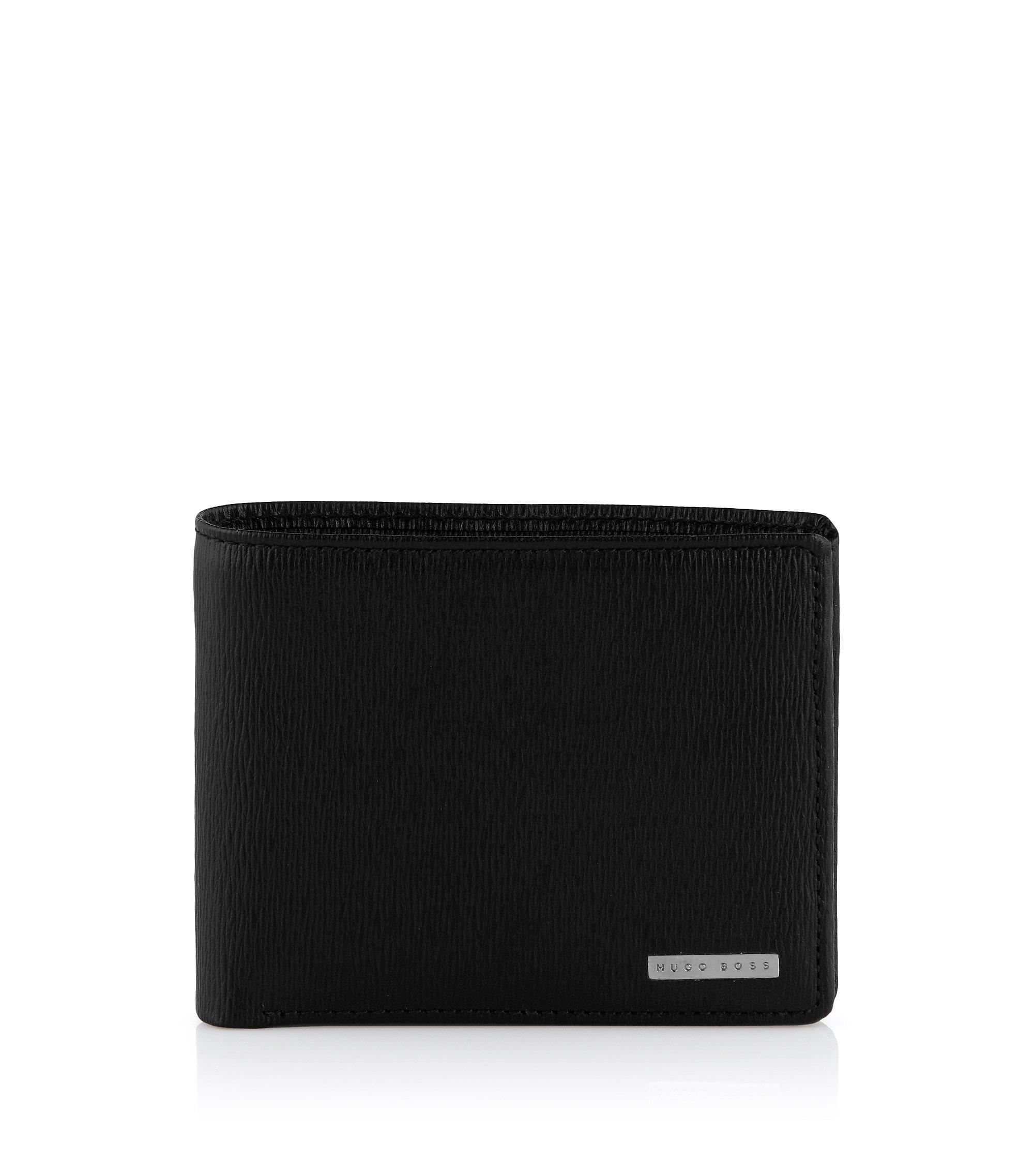 Geldbörse ´LOANO` aus geprägtem Rindsleder, Schwarz