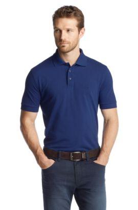 Polo «Ferrara Modern Essentials» en coton Pima, Bleu foncé