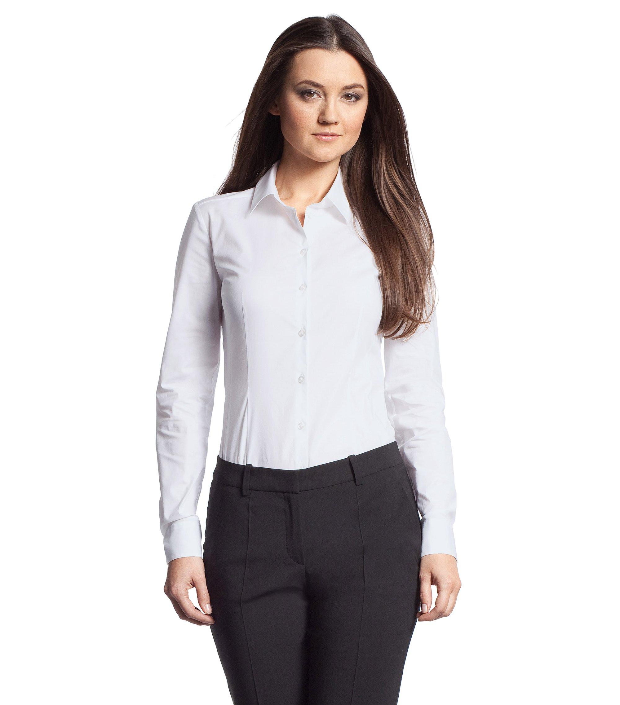 Bluse ´Endell` aus Baumwoll-Mix, Weiß