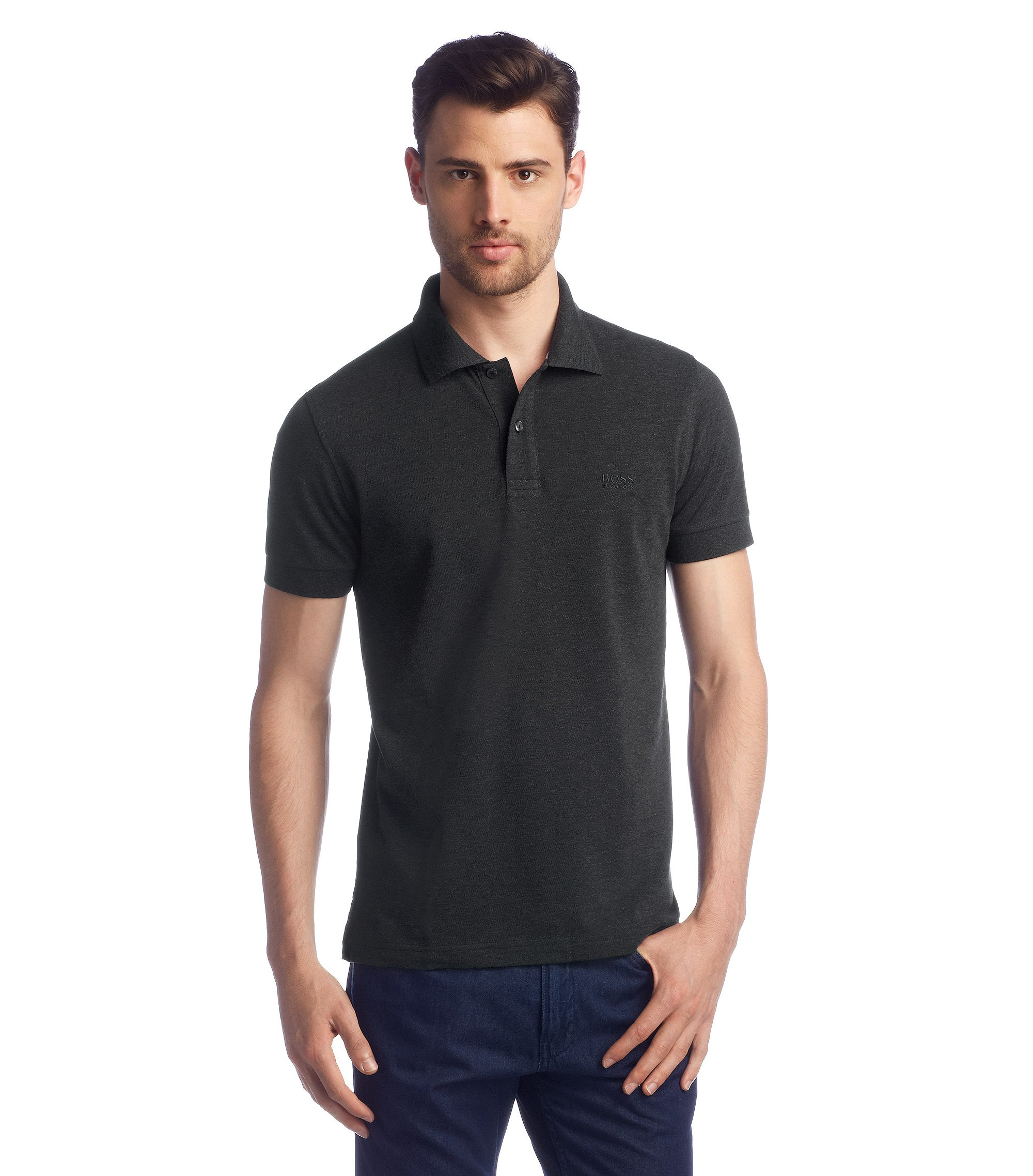 Polo shirt 'Firenze/Logo Modern Essential', Anthracite