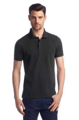 Regular fit polo ´Firenze/Logo Modern Essential`, Antraciet
