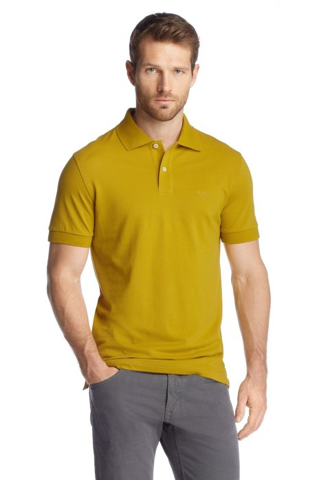 Regular-fit polo shirt in cotton piqué, Light Green