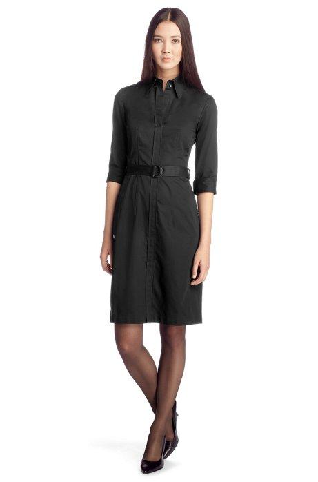 Belted shirt dress 'Dashina2', Black