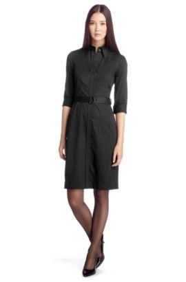 Hemdblusenkleid ´Dashina2` aus Baumwolle, Schwarz
