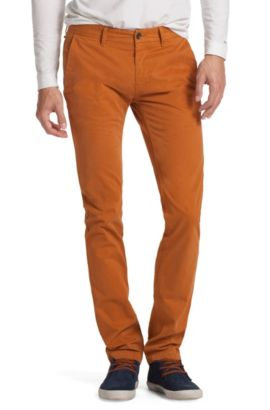 Slim Fit trousers 'Schino-Slim-D', Brown