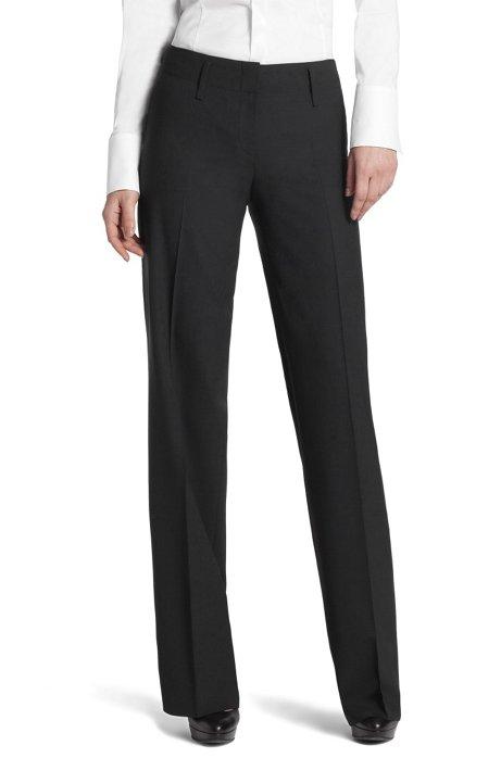 New wool blend dress trousers `Teresa6`, Dark Blue
