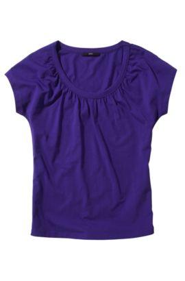 T-Shirt ´E3948` mit Raffungs-Details, Dunkel Lila