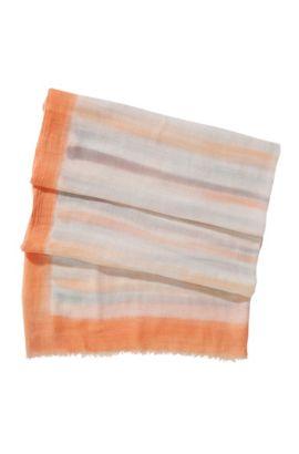 Schal ´SC403`mit malerischen Streifen, Gemustert