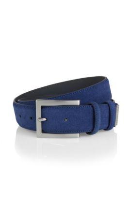 Gürtel ´Suedonio´ aus Veloursleder, Blau