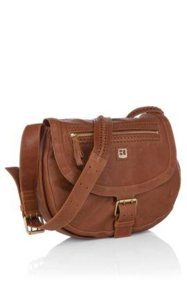 Shoulder Bag ´BRITANNY` aus Schafsleder, Braun