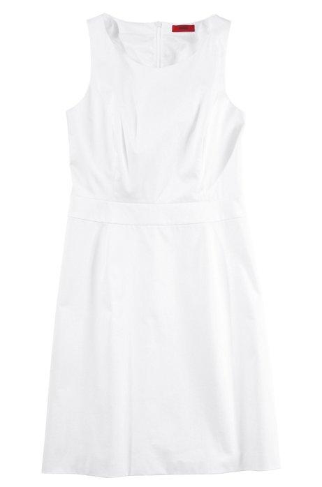 Sleeveless shift dress 'Kakeo', White