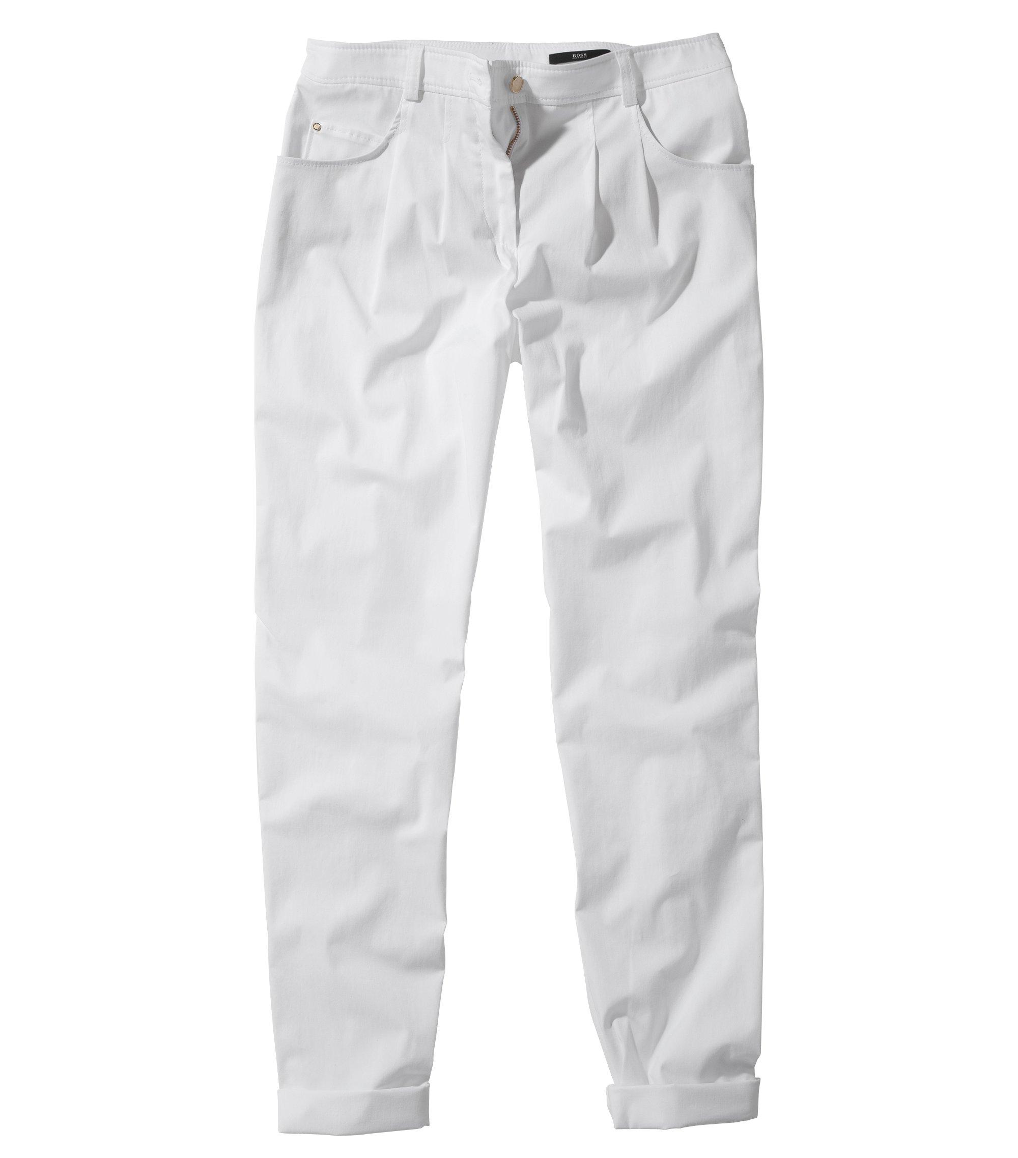 Pantalon chino à pinces, Nastija, Blanc