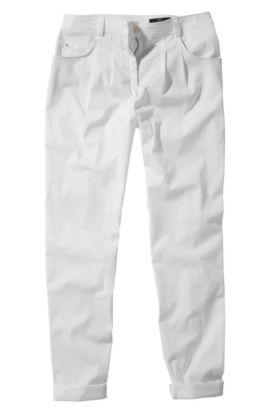 Chinohose ´Nastija` mit Bundfalten, Weiß