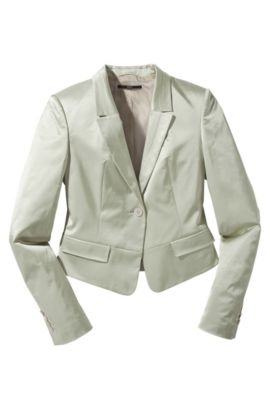 Blazer ´Javan` in changierender Optik, Hellbeige