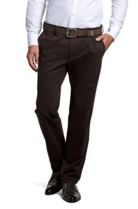 Regular fit casual broek ´Snider` in chinostijl, Bruin