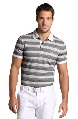 Poloshirt ´Paddy 1` mit Oxfordstreifen, Schwarz