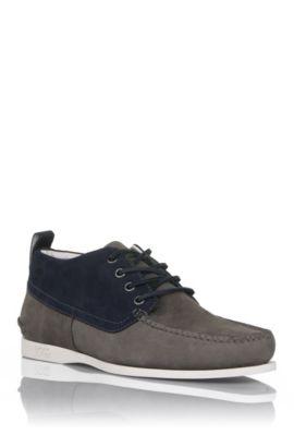 Chaussures détente en cuir, Brasso, Gris sombre