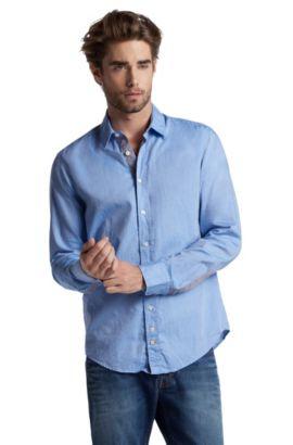 Freizeithemd ´CliffE` aus Baumwolle, Dunkelblau