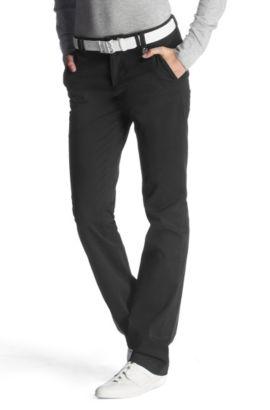 Pantalon en coton au look chino, Heliah 2-W, Noir