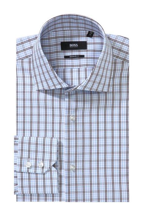 91e28a03c Easy-iron business shirt 'GERALD', Dark Brown