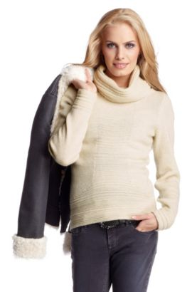 Pull-over en maille, Idonna, Gris sombre