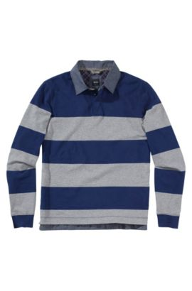 Longsleeve-Poloshirt ´Parobe 25`, Dunkelblau