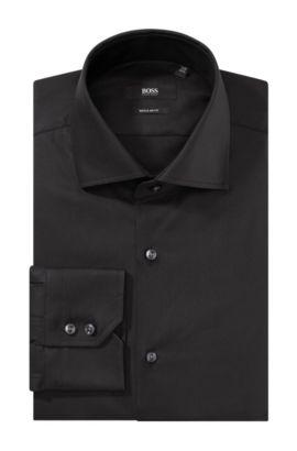 Business-Hemd ´Gerald` mit Haifischkragen, Schwarz