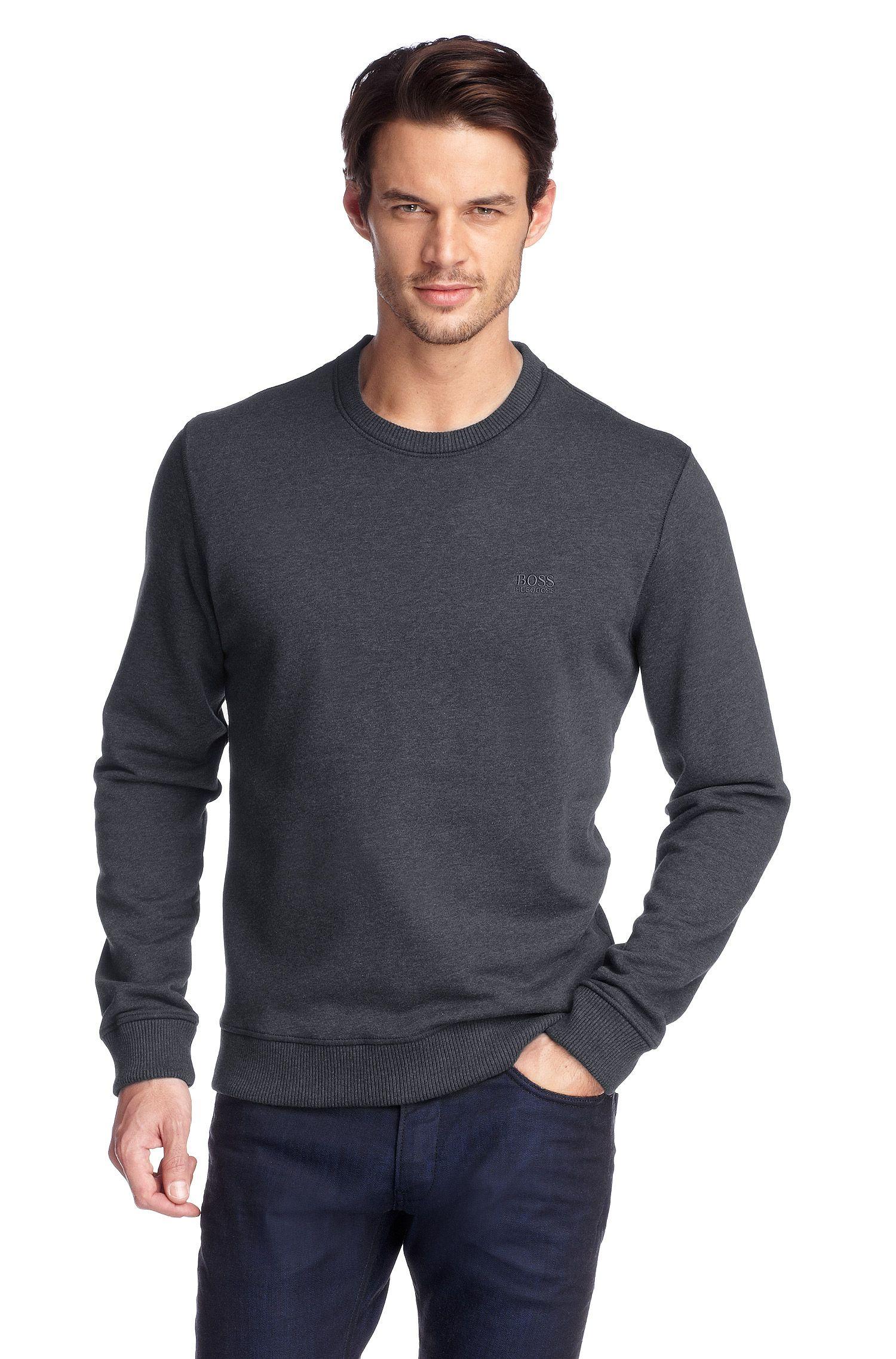 Sweat-shirt à bordures côtelées, Uno 01