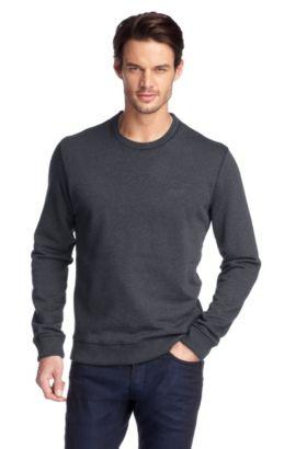 Sweat-shirt à bordures côtelées, Uno 01, Anthracite