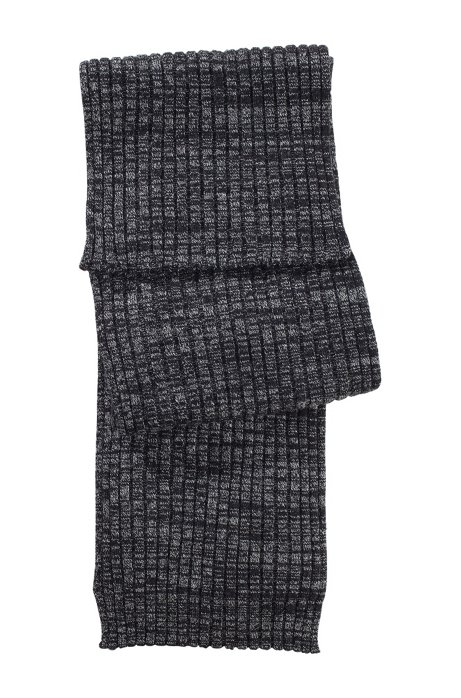 Fine knit wool scarf  'Zapo_1', Anthracite