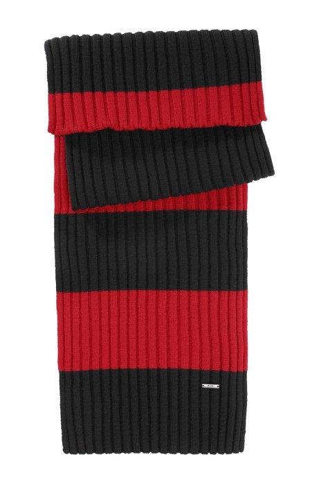 Fine knit wool scarf  'Zapo_1', Red