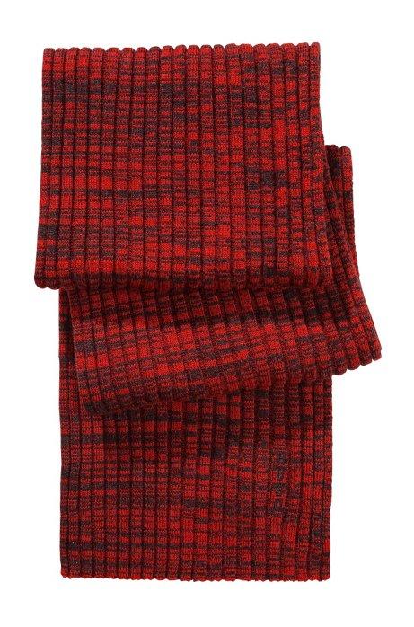 Fine knit wool scarf  'Zapo_1', Light Red