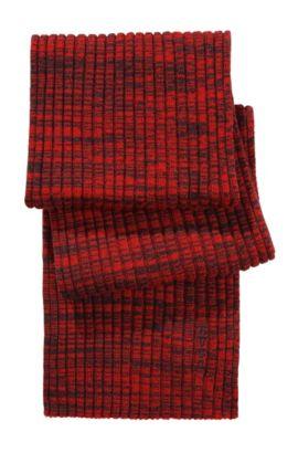 Foulard en fine maille de laine vierge, Zapo_1, Rouge clair