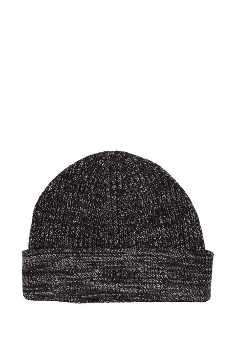 Finely knit shorn wool cap 'Xian-1', Anthracite