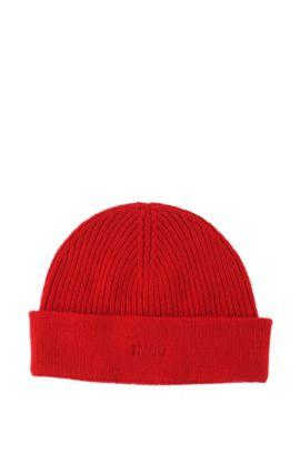 Strickmütze ´Xian-1` aus feiner Schurwolle, Rot