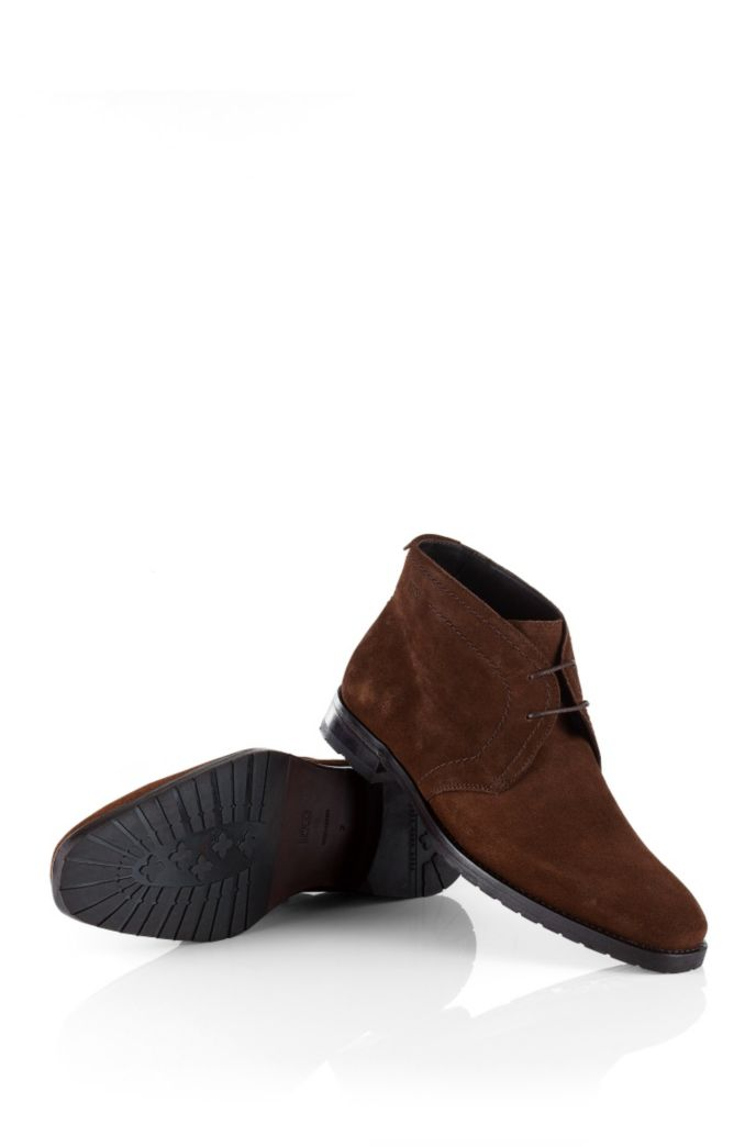 Smooth, calf leather suede ankle boot 'CLENNO'