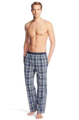 Pantalon à carreaux vichy, Long Pant EW BM, Bleu vif
