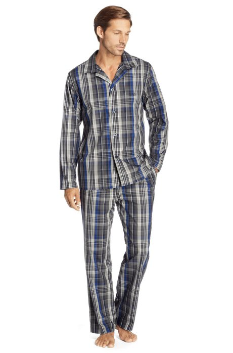 Pyjama set 'Set Long Woven BM', Dark Grey