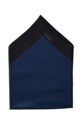 Zijden pochet ´Pocket Square 33x33`, Lichtblauw