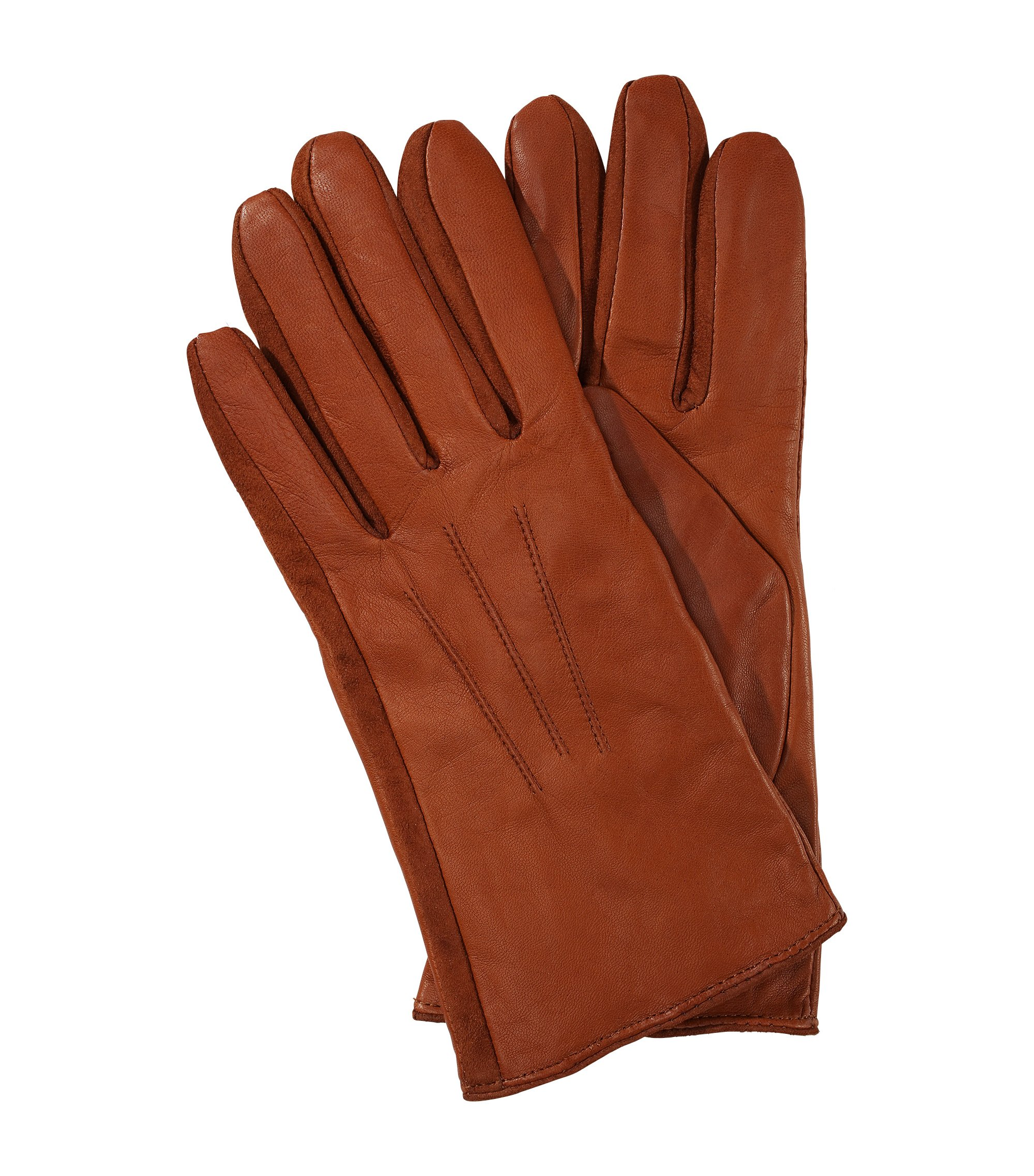 Short lambskin glove 'GL 188', Light Brown