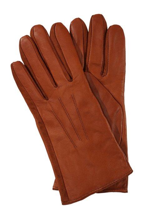 Short lambskin glove 'GL 188', Light Brown
