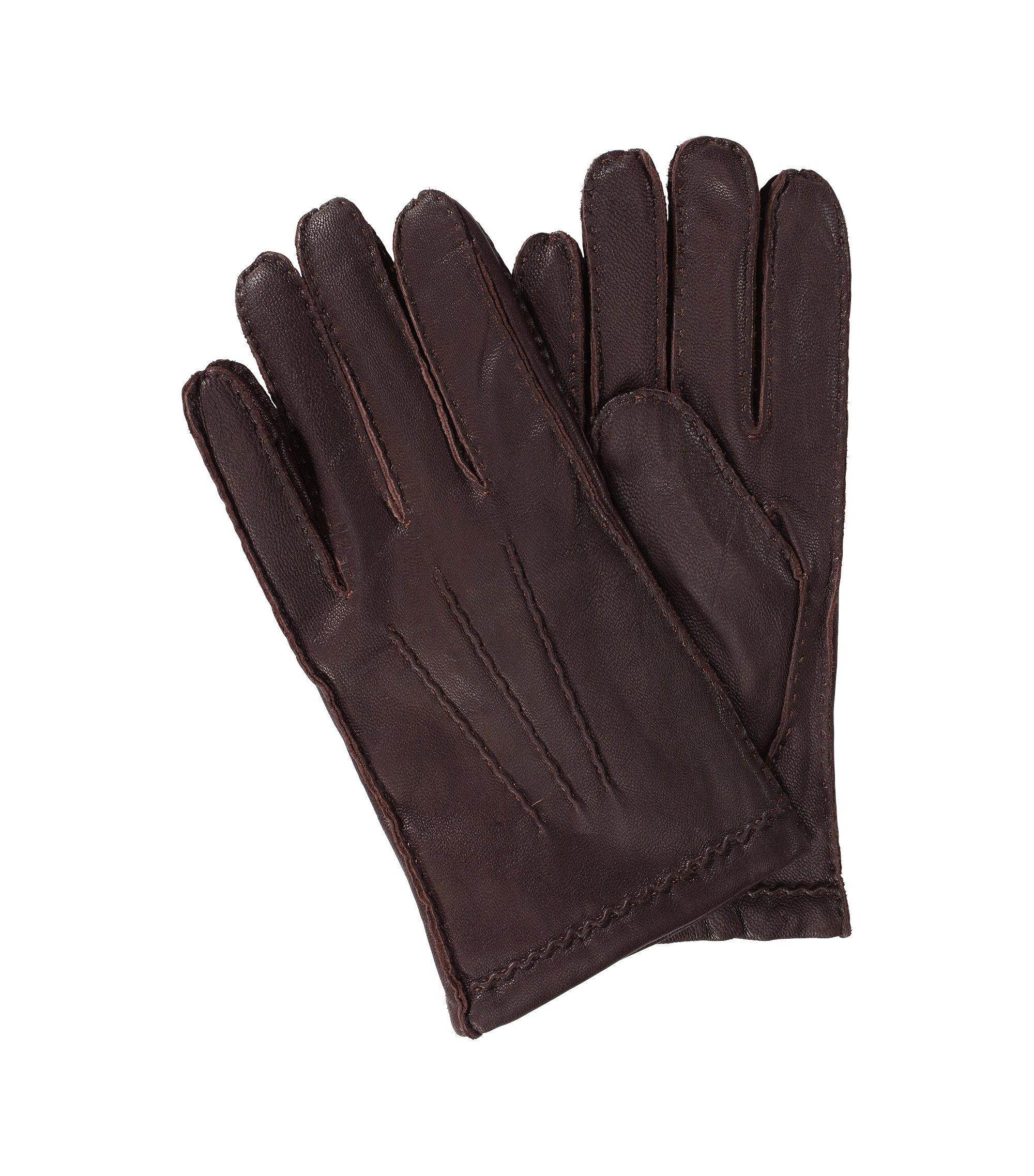 Soft kid leather glove 'Kantoz', Open brown
