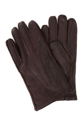 Zachte handschoen ´Kantoz` van geitenleer, Lichtbruin