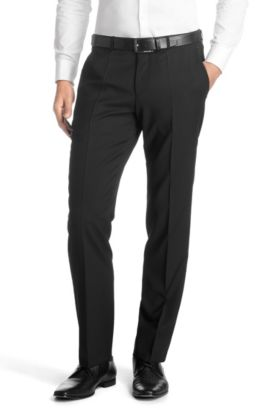 Pantalon de costume «Sharp5» en laine vierge, Noir