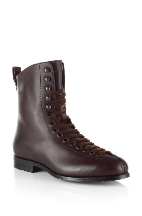 Boot with variable lacing 'FESTOR', Dark Brown