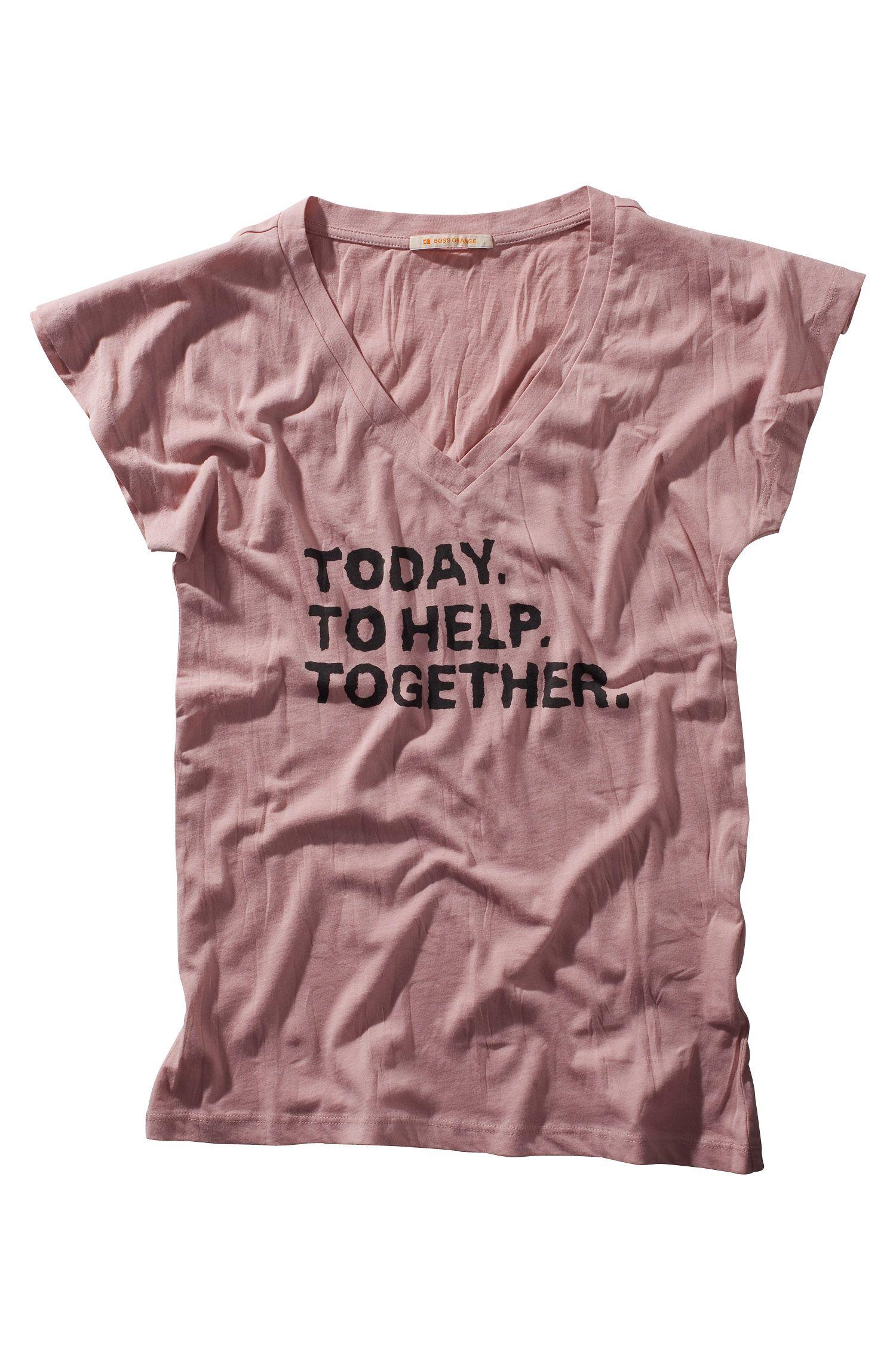 T-shirt voor het goede doel ´Tempya` met print