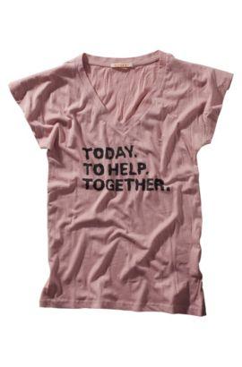 T-shirt voor het goede doel ´Tempya` met print, Lila