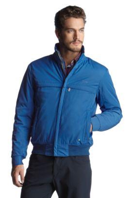 Jacke ´Jadon 1` mit geringelten Bündchen, Blau
