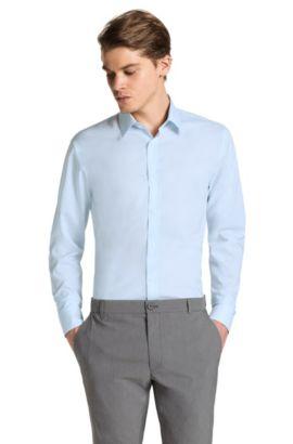 Slim fit business-overhemd 'Elisha', Turkoois